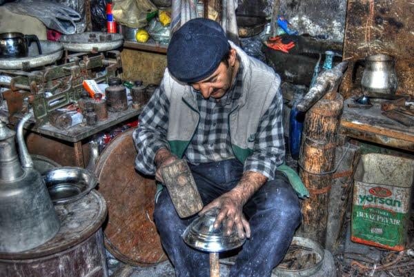 Coppersmith in Beypazari