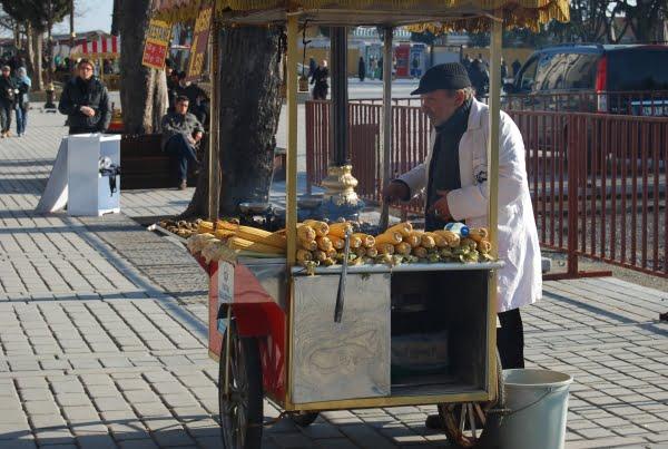 Sweetcorn seller