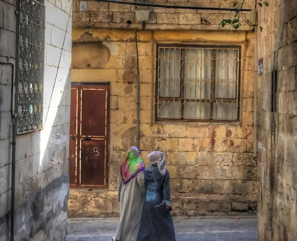 old streets of Urfa in Turkey