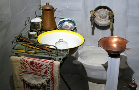 Old turkish bath utensils