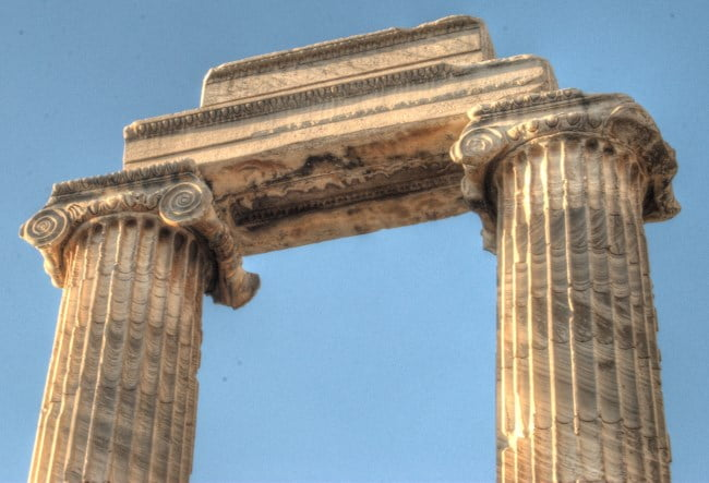 Column at Temple of Apollo