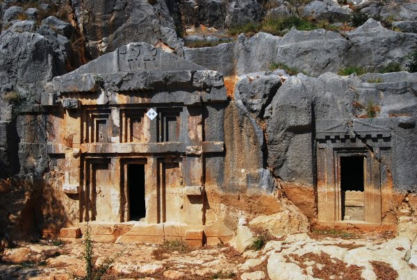 Lycian rock tombs in Turkey