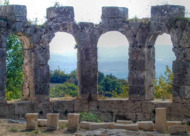 Lycian ruins of Tlos in Turkey