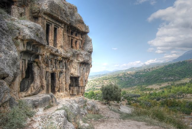 Lycian tombs Tlos