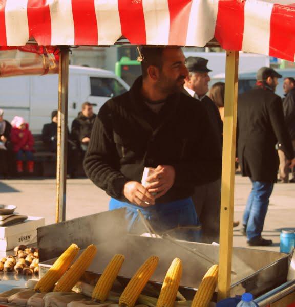 Street food seller in Istanbul