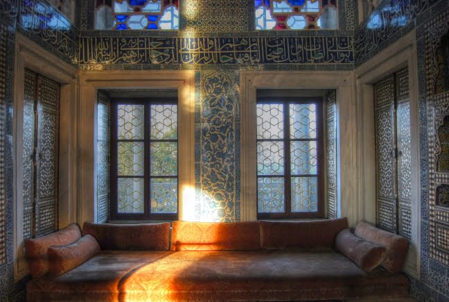 Inside the Topkapi palace