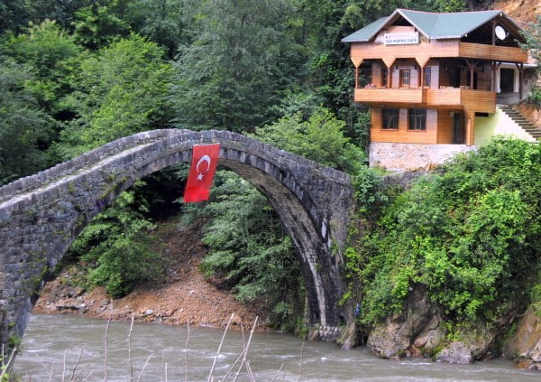 Ottoman bridge over firtina valley
