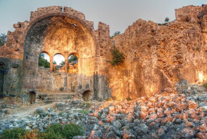 Church of Gemiler Island Fethiye Turkey