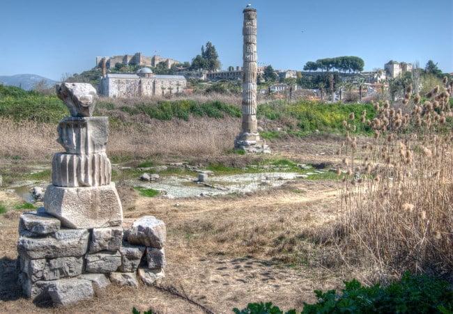 temple of artemis at ephesus selcuk turkey