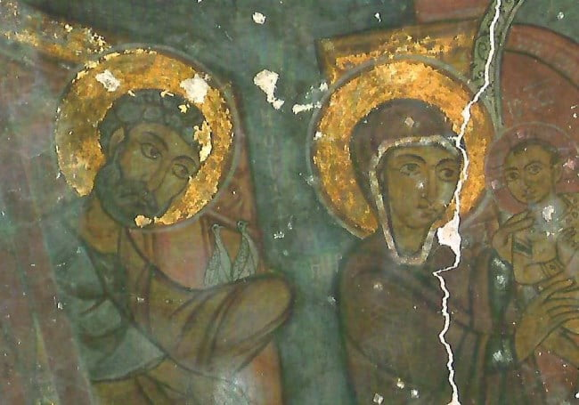 Frescoes of Keslik Monastery in Cappadocia Turkey