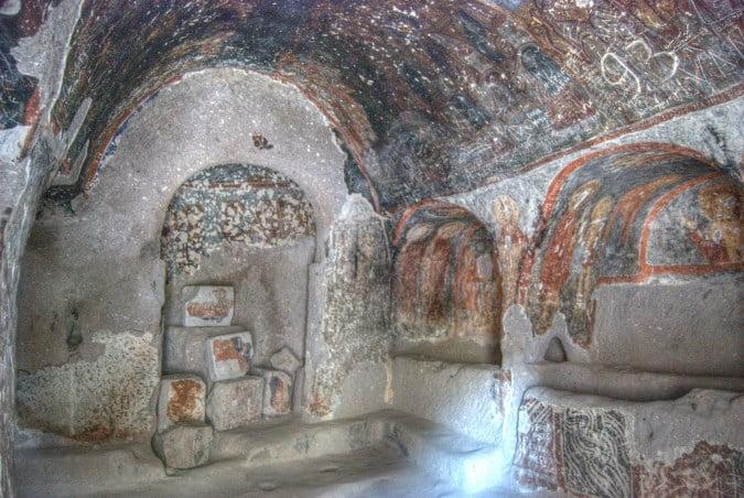 Inside Yilanli church of Soganli
