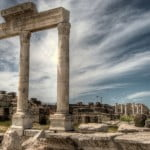Laodicea in Turkey. A church of Revelation