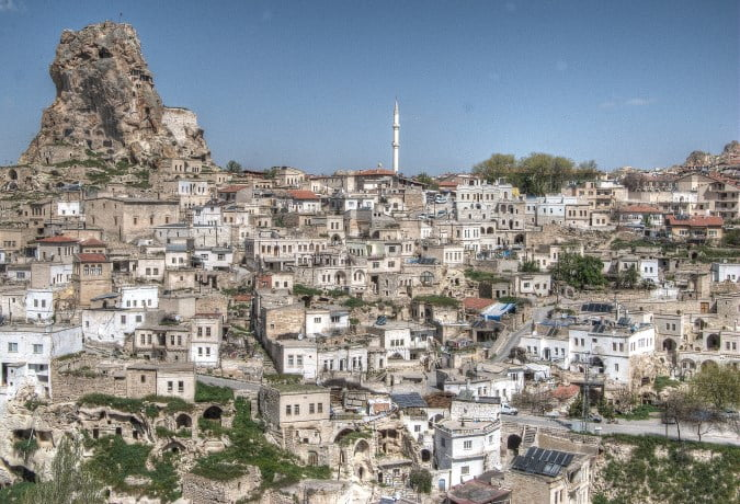 Ortahisar in the Cappadocia region of Turkey