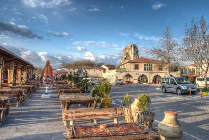Orthahisar in the Cappadocia area of Turkey