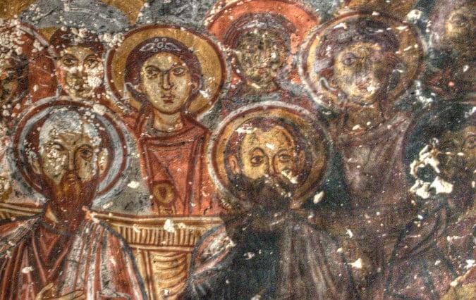 Soganli church frescoe