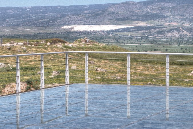 View of Pamukkale from Laodicea