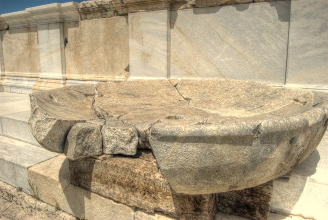 Water supply at the ancient ruins of Laodicea