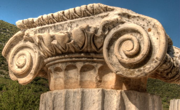 Column head from Stoa Basileios in Ephesus