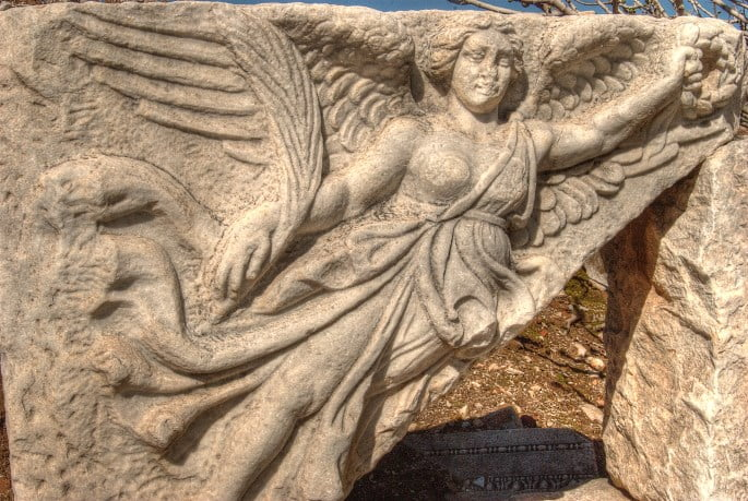 The Nike Goddess statue of Ephesus Turkey