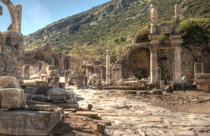 The Temple of Domitianus at Ephesus