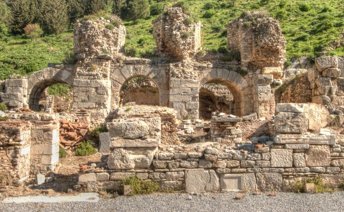 Upper Gymnasium baths of the ancient city of Ephesus