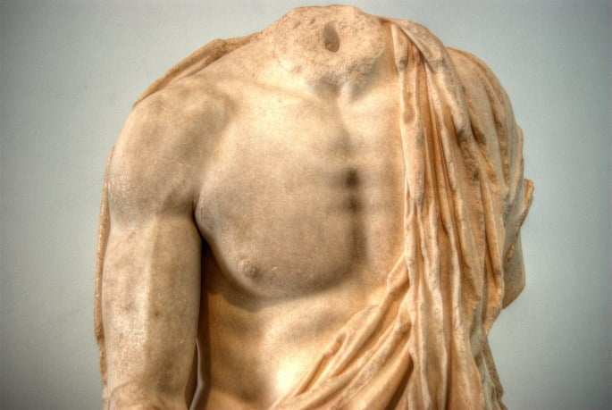Sculpture at the Aphrodisias musuem in Turkey