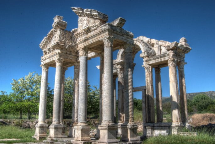 Tetrastoon at Aphrodisias Turkey