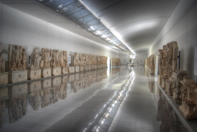The Sebasteion hall of sculptures at Aphrodisias museum in Turkey