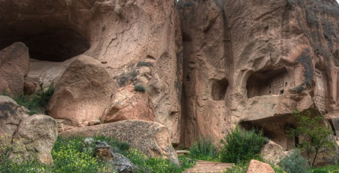Zelve Valley in Cappadocia and the Ghost Rider Film