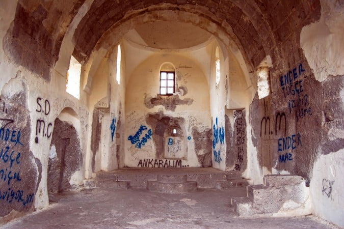 Yuksek monastery Guzelyurt Cappadocia Turkey