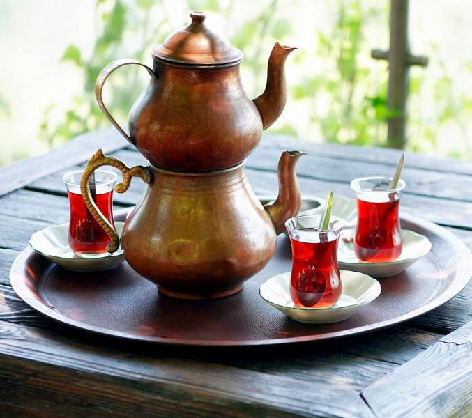Turkish tea Caydanlik